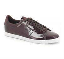 נעלי סניקרס LE COQ SPORTIF CHARLINE COATED S LEATHER fudge לנשים בצבע בורדו