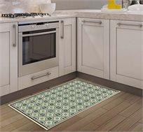 שטיח מעוצב דגם ססיליה ירקרק בגדלים לבחירה