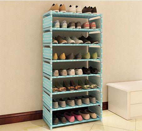 מעמד נעליים 8 מדפים לאחסון עד 24 זוגות
