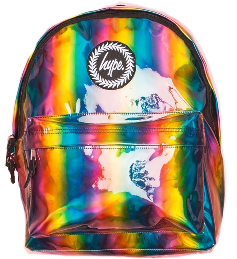 Hype תיקים// Rainbow Holographic Backpack