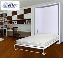 חוסכים מקום! ארון קיר הנפתח בקלות למיטה זוגית עם מזרן LATEX לשינה מושלמת מבית אירופלקס