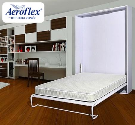 סופר חוסכים מקום! ארון קיר הנפתח בקלות למיטה זוגית עם מזרן LATEX לשינה VV-81