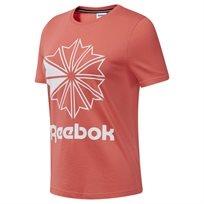 Reebok נשים //  Big Logo Graphic Tee  Rose / White