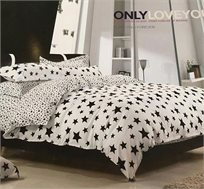מערכת מצעים יחיד 100% כותנה רכה ומפנקת לשינה - משלוח חינם