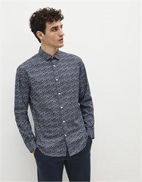 חולצה מכופתרת בגזרה רגילה 100% כותנה