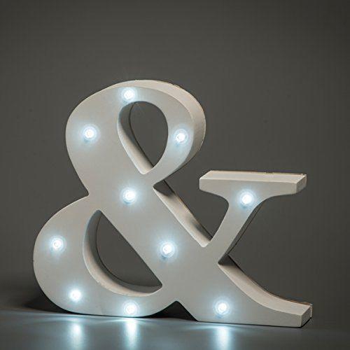 מנורת לילה עם תאורת לד Led מעוצבת בצורת הסימן &