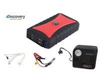 ערכת חירום מושלמת לרכב! ערכת התנעה לרכב משולבת קומפרסור- Discovery 570