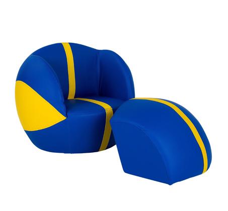 ספה לעיצוב חדר הילדים כדורסל צהוב כחול