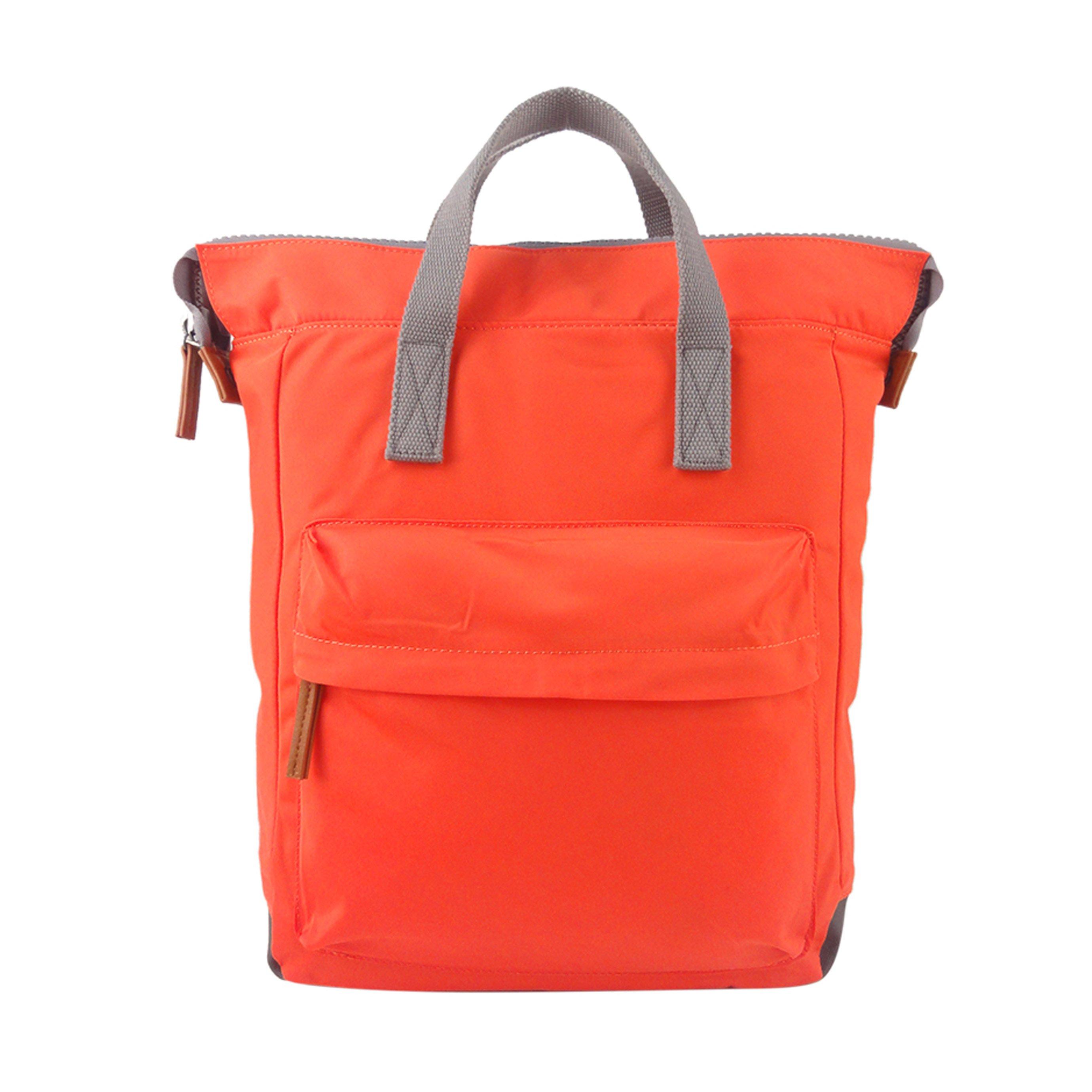 Roka - תיק גב מרופד ומרווח בצבע כתום עם כיס חיצוני מרובע