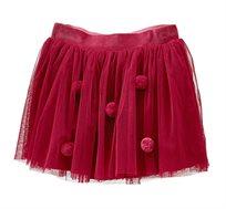 חצאית טול OVS לילדות - פטל עם פונפונים