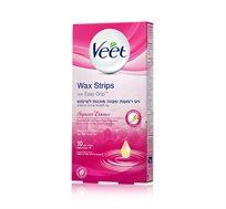 מארז 3 יחידות רצועות שעווה ארומטיק מוכנות לשימוש Veet Wax strips