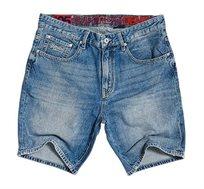 מכנס ג'ינס קצר Superdry Conor לגברים בצבע כחול