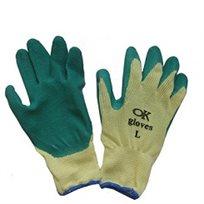 כפפות עבודה לגינה OK GLOVES עשויות מבד עם ציפוי לטקס על כף היד במבחר גדלים