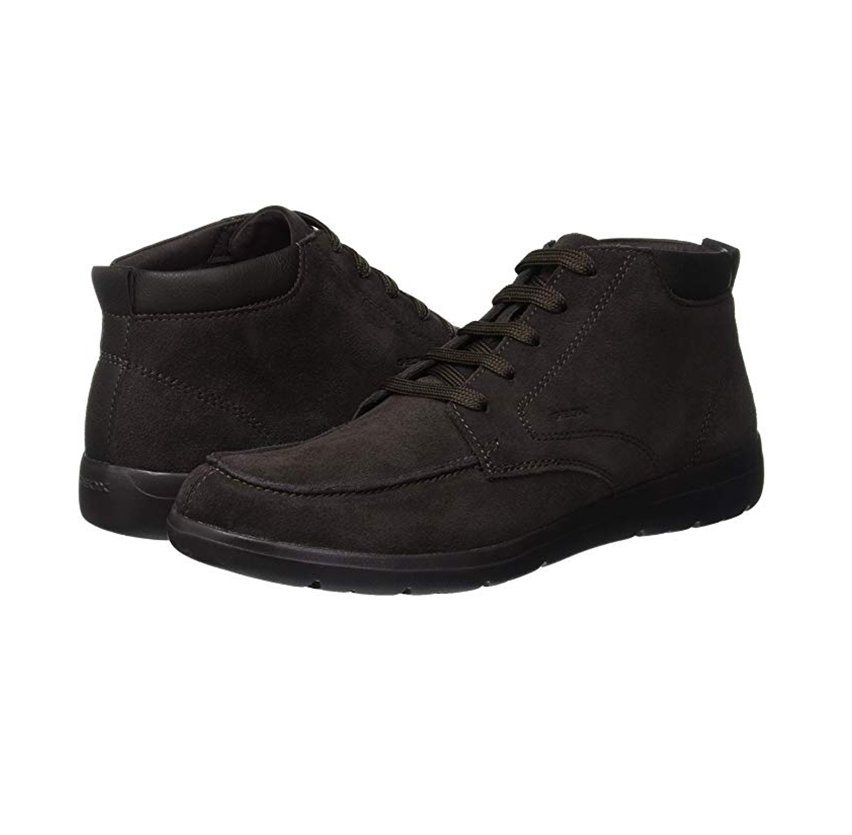 נעלים גבוהות לגבר דגם GEOX U843QA - חום קפה