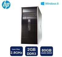 מחשב נייח מבית HP דגם DC5800 Tower עם מעבד Intel Core 2 Duo, זיכרון 2GB, דיסק קשיח 80GB ו-WIN7 PRO