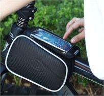 תיק אופניים יוקרתי לחיבור קל לשילדת האופניים, כולל תא תצוגה לטלפון הנייד או הפאבלט, ב-2 דגמים לבחירה