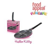 """מתפנקייקים עם הלו קיטי! מחבת פנקייק 26 ס""""מ מבית Food Appeal עם 4 תבליטי הלו קיטי מדליקים"""