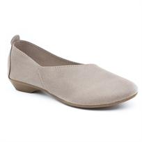 Seventy Nine - נעלי בלרינה א-סימטרית בצבע טאופ