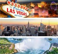 14 ימים בניו יורק, קנדה, לאס וגאס ועוד כולל טיסות, מלון וסיורים החל מכ-$2999*