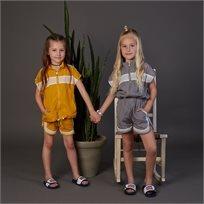 חליפה ORO לילדות (מידות 2-7 שנים) ניילון אפור