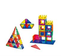 משחק מגנטים Playmager - הרכבה בתלת מימד, 100 חלקים לפיתוח הדמיון, יצירתיות, חשיבה מרחבית ועוד - משלוח חינם