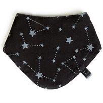 Babymitmit סינר בנדנה דו צדדי שחור  - Galaxy Collection