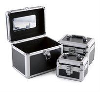 סט 3 מזוודות איפור (קטנה, בינונית וגדולה) במגוון צבעים לבחירה - משלוח חינם