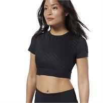 חולצת בטן ריבוק לנשים - REEBOK STUDIO MESH CROP TOP