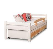 """מיטה דגם """"יהלי"""" עשויה עץ מלא עם ידיות אינטגרליות במגוון צבעים לבחירה HIGHWOOD"""