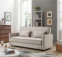 ספה נפתחת לאירוח תלת מושבית מבד כוללת ארגז מצעים