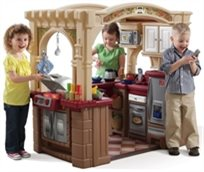 מטבח לילדים דגם המטבח הגדול עם דלפק הגשה, עמדת ברביקיו ו 103 אביזרים 8214