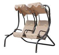 נדנדת גן דו מושבית מפנקת CAMPTOWN למרפסת ולחצר