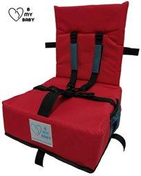 כיסא הגבהה עם רצועות פנימיות, מתקפל ונח