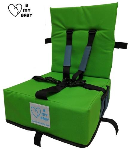 כיסא הגבהה עם רצועות פנימיות, מתקפל ונח - תמונה 5