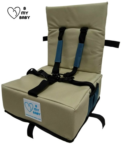 כיסא הגבהה עם רצועות פנימיות, מתקפל ונח - תמונה 3