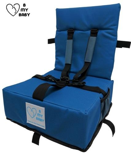כיסא הגבהה עם רצועות פנימיות, מתקפל ונח - תמונה 6
