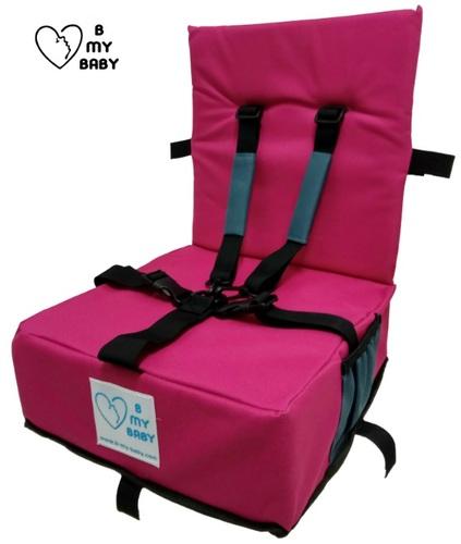 כיסא הגבהה עם רצועות פנימיות, מתקפל ונח - תמונה 4