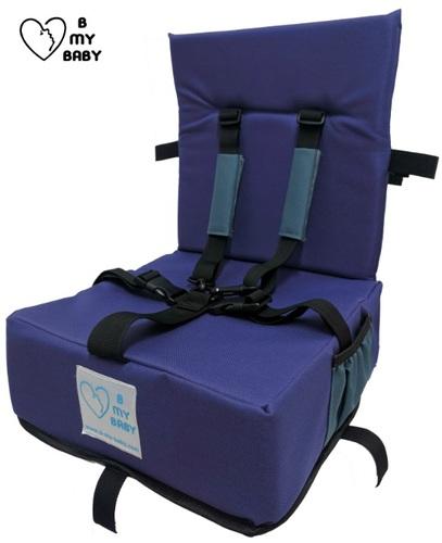 כיסא הגבהה עם רצועות פנימיות, מתקפל ונח - תמונה 2