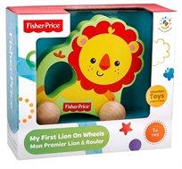 משחק התפתחות אריה על גלגלים מעץ מלא מגיל שנה+ Fisher Price - משלוח חינם!