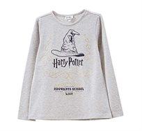 טישרט הארי פוטר ארוכה OVS לילדות בצבע אבן