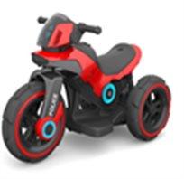 אופנוע משטרה ממונע אדום 3 גלגלים