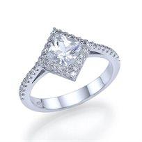 """טבעת אירוסין """"אמילי"""" בעיצוב וינטאג' ייחודי 1.41 קראט"""
