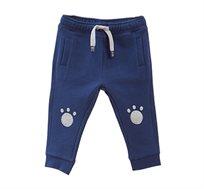 מכנסי פוטר עם הדפס לפעוטות בצבע כחול