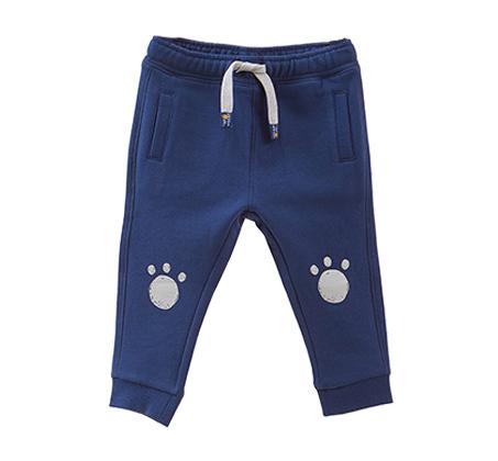 מכנסי פוטר OVS עם הדפס לפעוטות - כחול