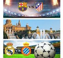 2 משחקים במחיר 1-ברצלונה מול אתלטיקו מדריד ואספניול מול ריאל מדריד+4 לילות בברצלונה החל מכ-€939*
