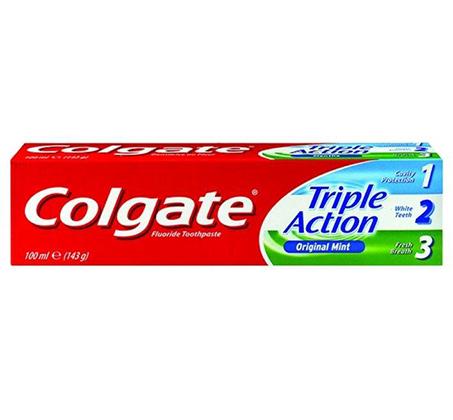 """5 יחידות משחת שיניים טריפל אקשן 75 מ""""ל"""