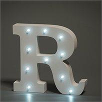 מנורת לילה עם תאורת לד LED מעוצבת בצורת האות R
