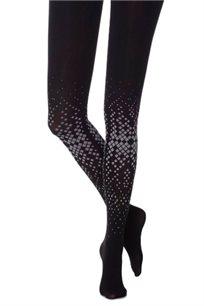 גרביון צל גיאומטרי Zohara בצבע שחור