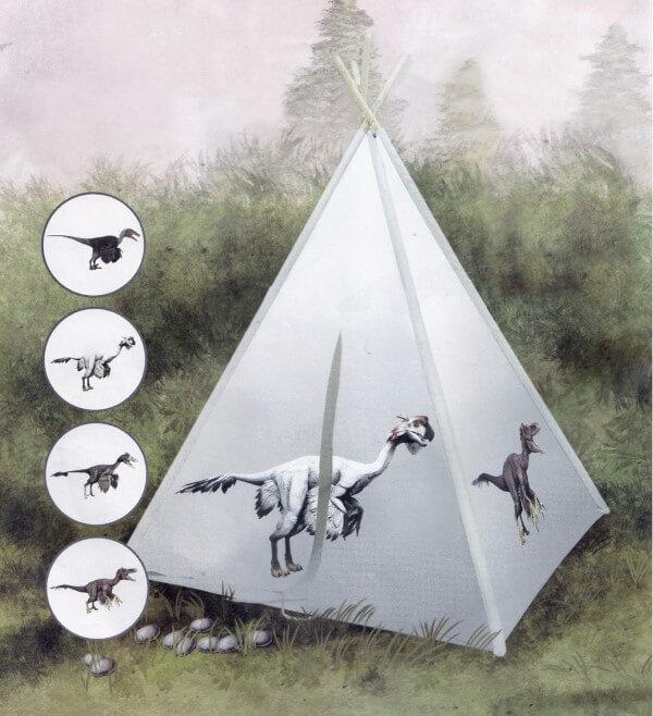 אוהל טיפי לילדים - דינוזאור