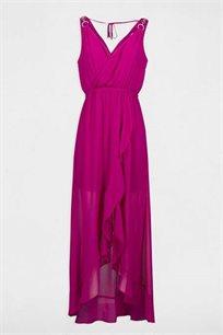 שמלה ארוכה נשפכת בסיומת מלמלה MORGAN - פטל